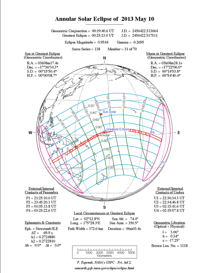 Annular Solar Eclipse May 10,2013
