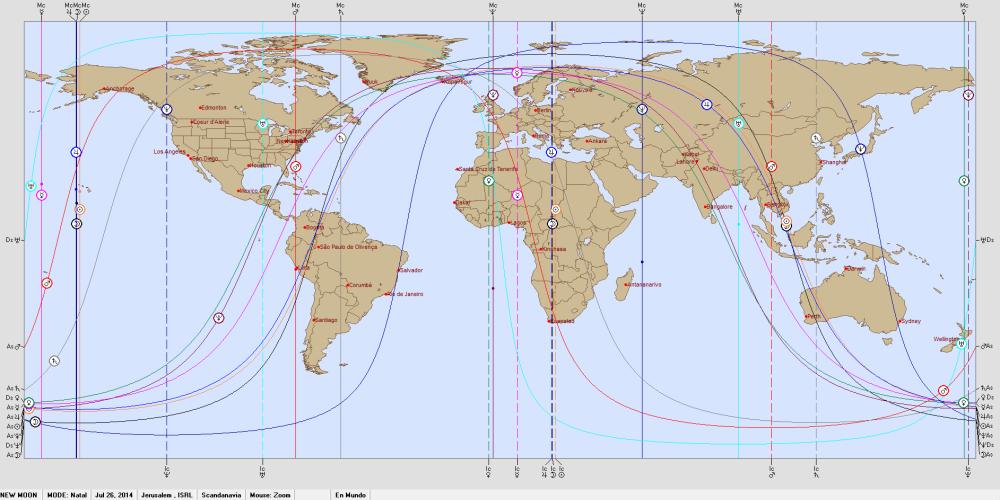 NEW MOON  Jul 26, 2014. Astro Carto Graphy