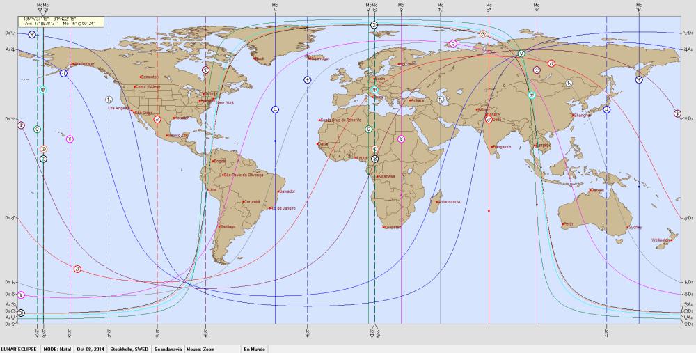 LUNAR ECLIPSE  8 October  2014.  Astro Carto Graphy