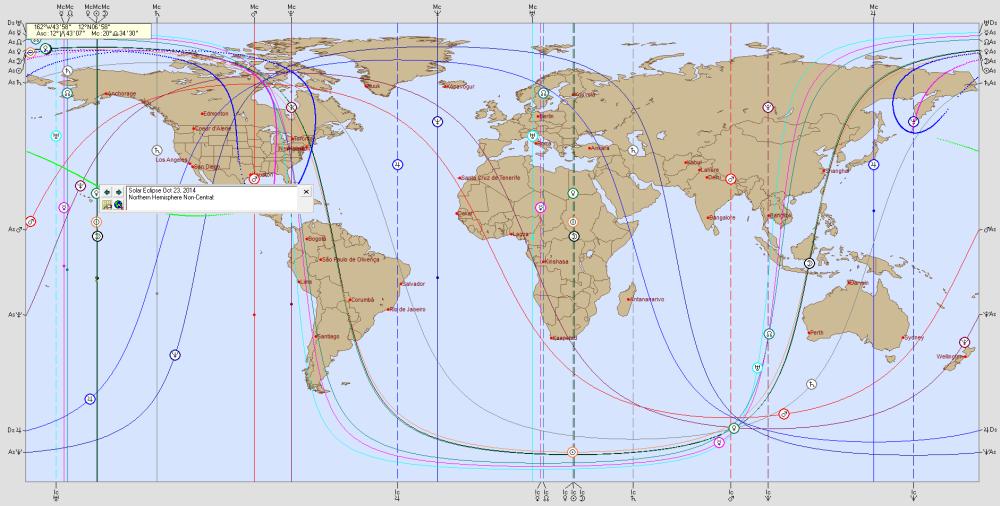 SOLAR ECLIPSE  23  October  2014 Astro Carto Graphy