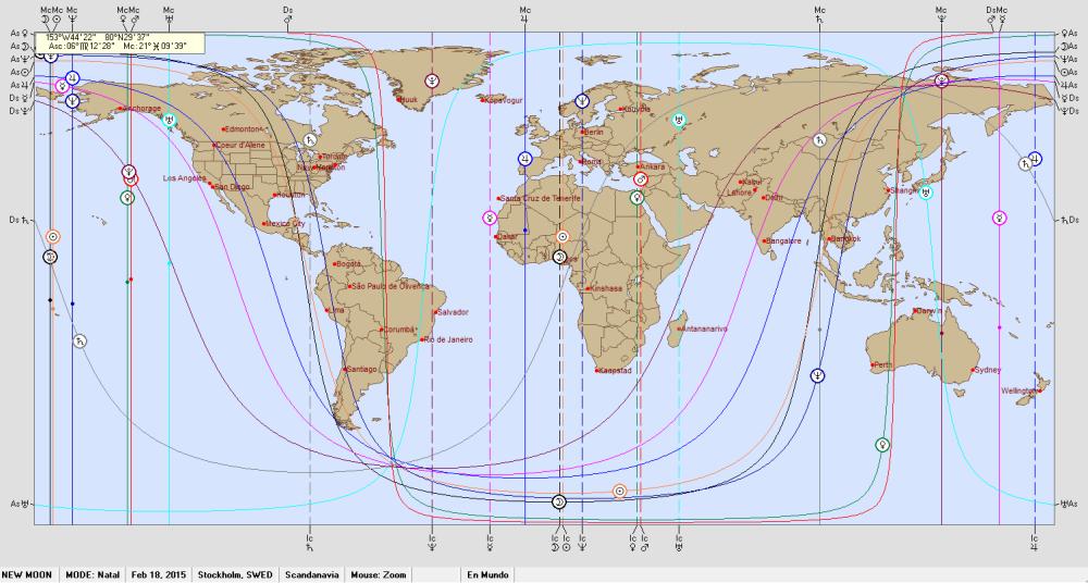 New Moon 18 February 2015 Astro Carto Graphy