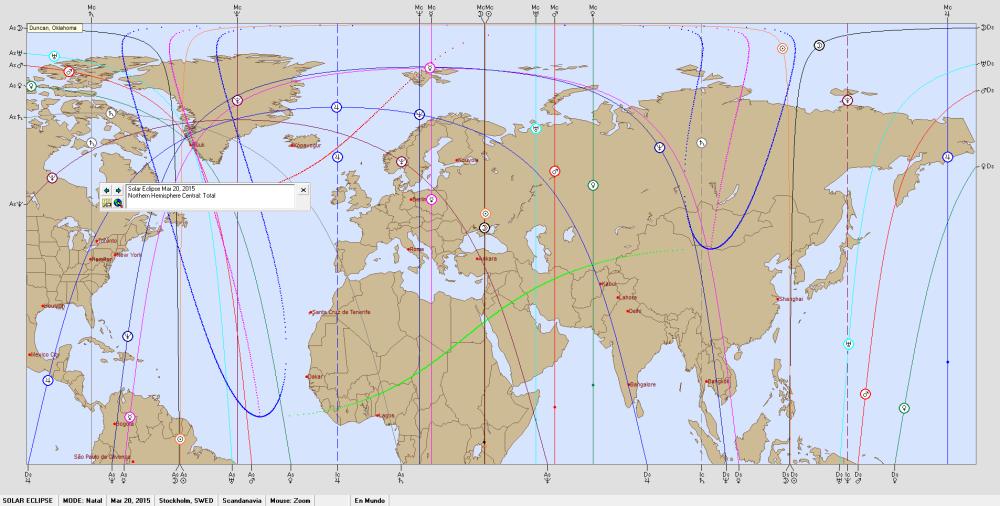 Solar Eclipse March 20, 2015 Astro Carto Graphy