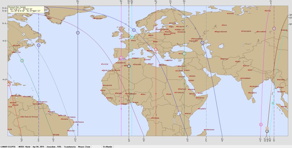 Lunar Eclipse  4 April 2015 Astro Carto Graphy