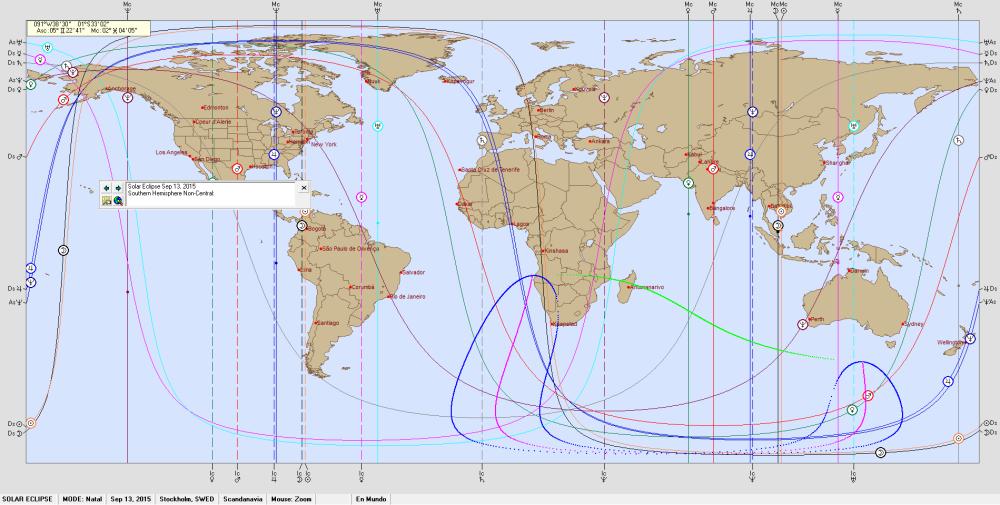 SOLAR ECLIPSE September 13, 2015  - Astro Carto Graphy