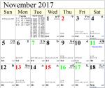 Professional Astrological Calendar