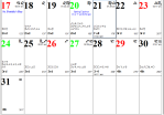 Professional Astrological Calendar March2019