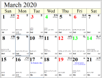 Professional Astrological Calendar March2020.