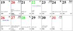Professional Astrological Calendar July2020.